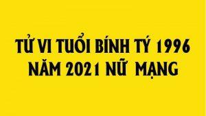 tử vi tuổi tý 1996 năm 2020 nữ mạng